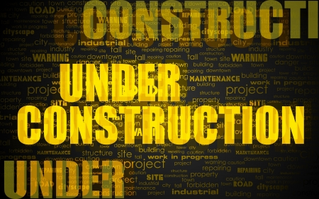 illustration of under construction word cloud Stock Vector - 13956593