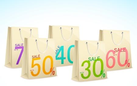 illustration of different discount offer on shopping bag Stock Illustration - 14026868