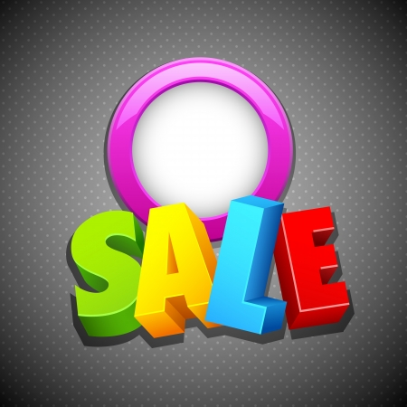 discount coupon: illustration of colorful sale text on abstract background