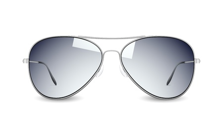 sunglasses reflection: illustration of sun glasses on white background