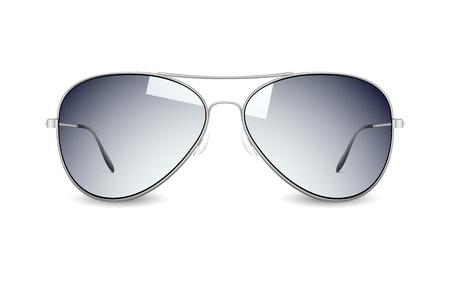 illustrazione di occhiali da sole su sfondo bianco Vettoriali