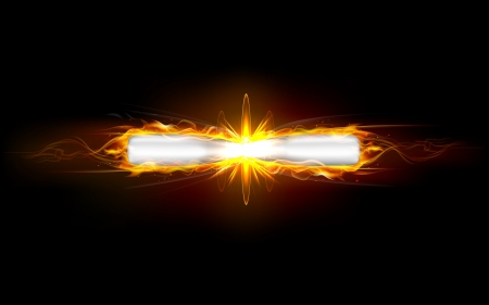 illustration of clash of fiery bullet producing fire flames Vector