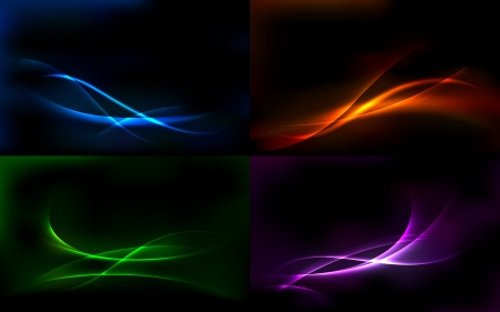 light beams: illustration of set of colorful abstract vector background
