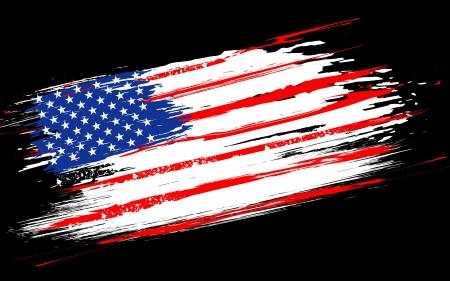 illustration de drapeau américain avec la frontière grungy Vecteurs