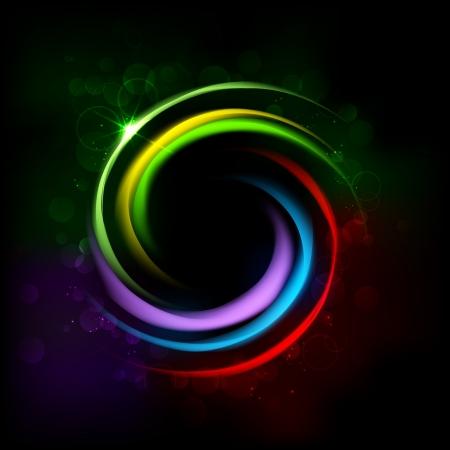 blast: illustration of colorful glowing circle background Illustration
