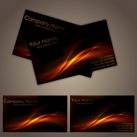 business cards: illustration of front and back of corporate business card