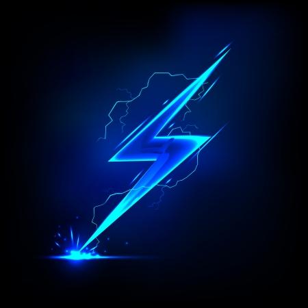 illustratie van sprankelende bliksemschicht met elektrisch effect