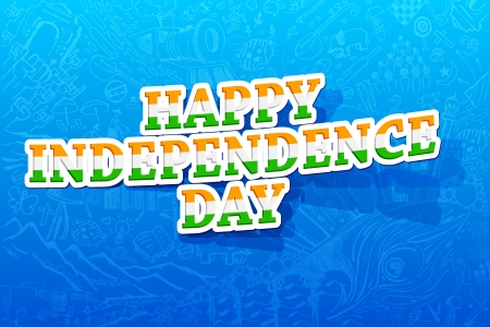 illustration of happy Independence day background Vector
