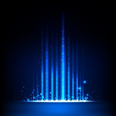 illustratie van binaire code op abstracte technologie achtergrond Vector Illustratie