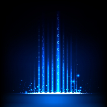 illustration de code binaire sur fond de technologie abstraite Vecteurs