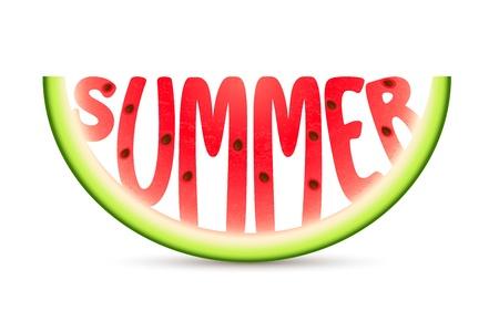 word art: ilustraci�n de la palabra tallada en verano sand�a
