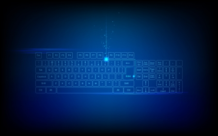 digital background: illustration of high tech keyboard with binary number