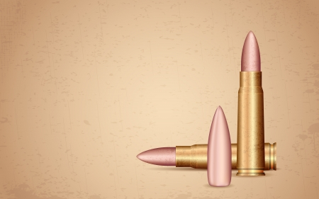 war crimes: illustration of rifle bullet on grungy background
