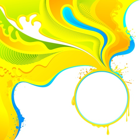 dhulandi: illustration of abstract splashs of colors on Holi background Stock Photo
