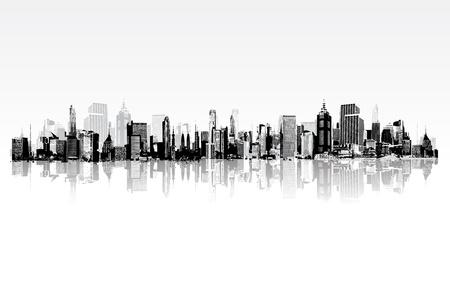 ilustración de la construcción arquitectónica en vista panaromic