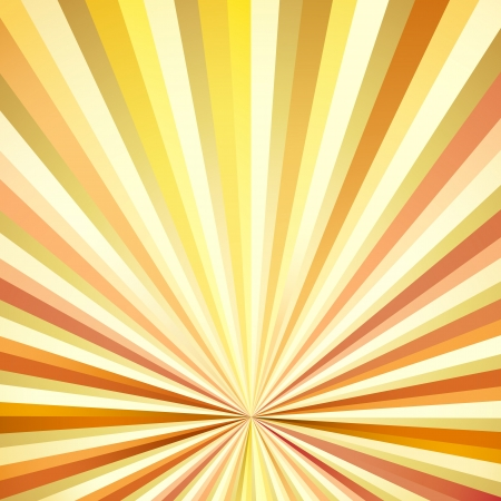 illustration of vintage sunburst background in multicolor Vector