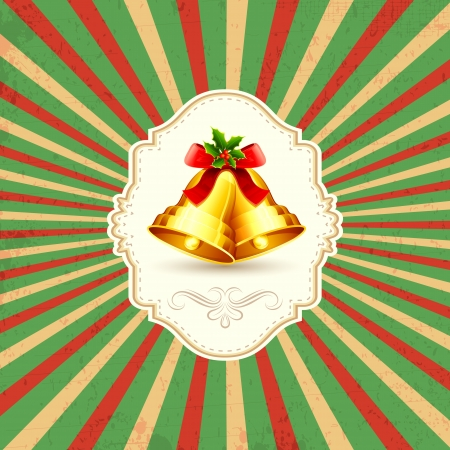 illustration of Christmas bell on abstract background Vector