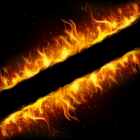 cehennem: alev ateş yapılmış çerçeve illüstrasyon