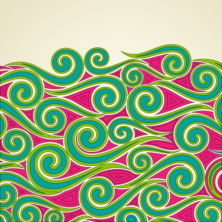 illustration of colorful swirls on abstract background Stock Vector - 15632170