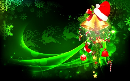 christmas party background: illustration of decorated Christmas bauble hanging on abstract background