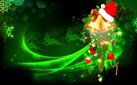 caramelos navidad: ilustraci�n de la chucher�a de la Navidad que cuelga decorada sobre fondo abstracto