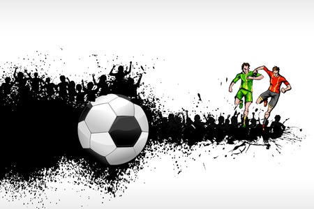 illustration of soccer player playing on grungy background Stock Vector - 15632196