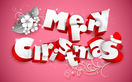 illustration of Merry Christmas background with flower Stock Vector - 16022780