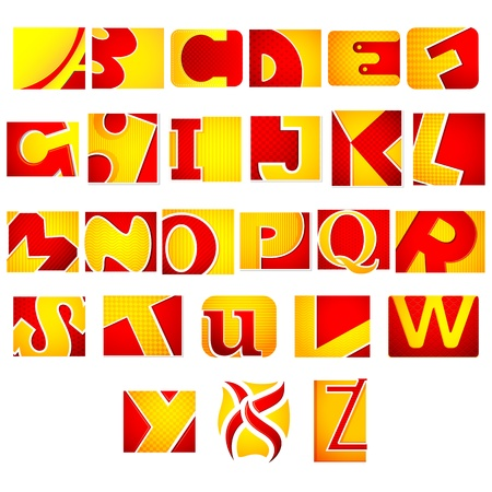 b n: illustration of set of colorful alphabets on abstract background