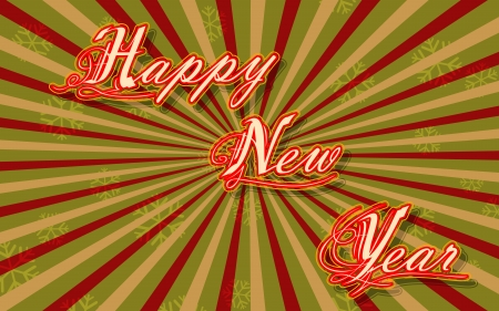 illustration of vintage happy new year card Stock Vector - 16022776