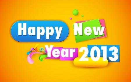 illustration of colorful Happy New Year wallpaper Stock Vector - 16125063