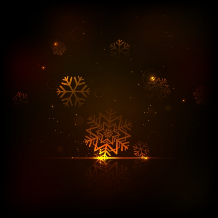illustration of Christmas background with sparkling snowflakes Stock Vector - 16125076