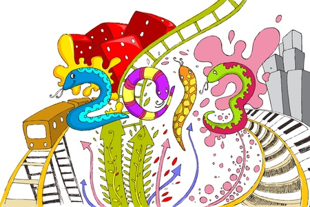 illustration of Happy New Year 2013 with snake Vector