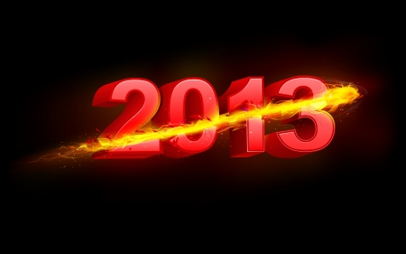 illustration of fiery Happy New Year background for 2013 Stock Vector - 16601438