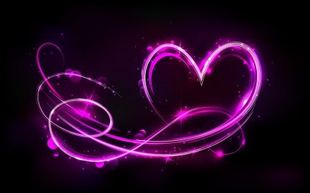 truelove: illustration of swirly glowing heart on abstract background Illustration