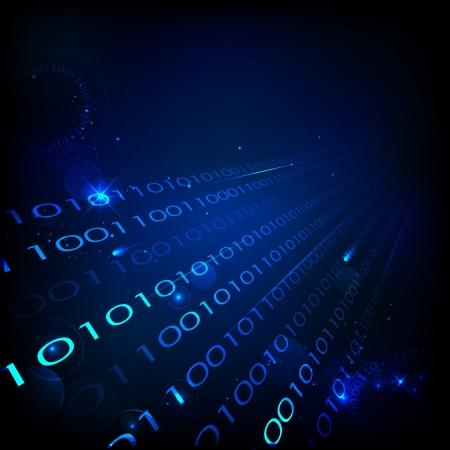 codigo binario: Ilustración de fondo de la tecnología con el número binario