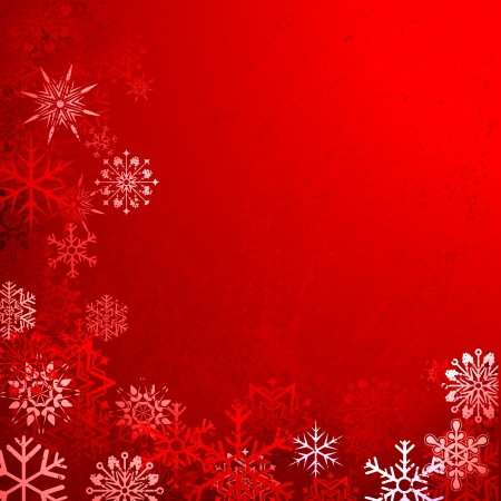 illustration of grungy Christmas background with snowflakes Stock Vector - 17062216
