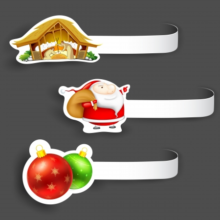 illustration of Christmas tag with different element Stock Vector - 17062328