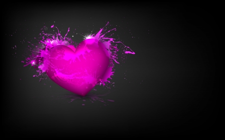 truelove: illustration of grungy heart with splash on abstract background