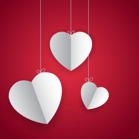 illustration of pair of heart in love background Vector