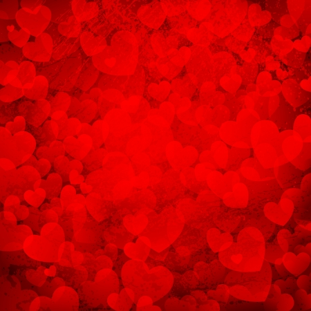 illustration of rusty love background with bunch of hearts Vector