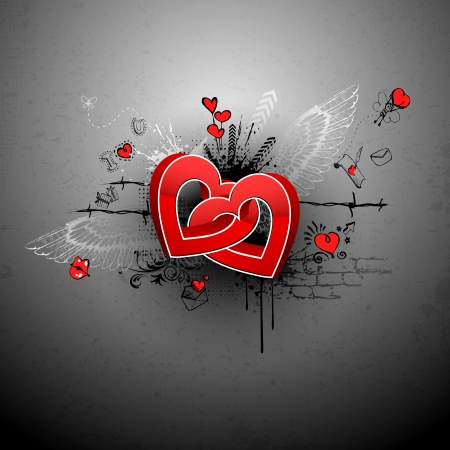 truelove: illustration of love background for Valentines Day Illustration