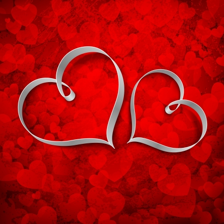 truelove: illustration of couple of heart on love background