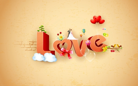 truelove: illustration of happy valentine s background with love text Illustration