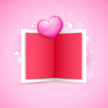 truelove: illustrazione della carta di amore con cuore lucido