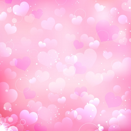 illustration of love background with many heart Vector
