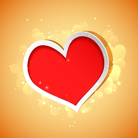 illustration of glossy love background with heart Stock Illustration - 17376456