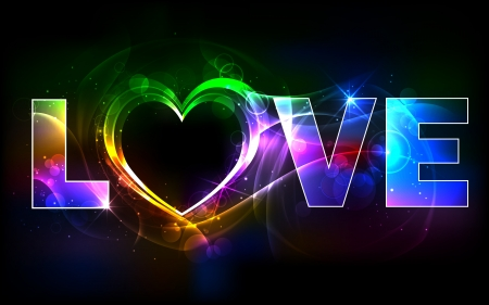 truelove: illustration of colorful love background with heart
