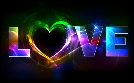truelove: illustrazione di amore sfondo colorato con il cuore