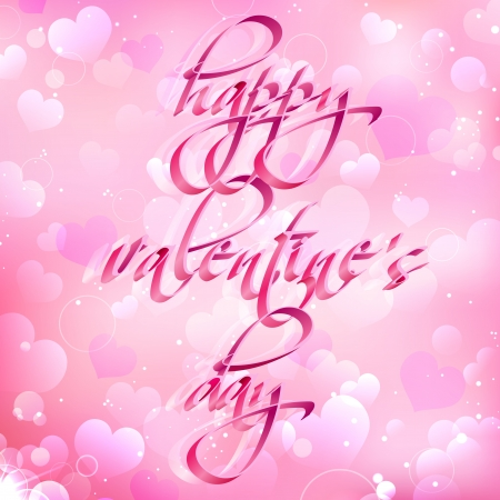 illustration of Valentine s Day wishes on abstract love background Vector