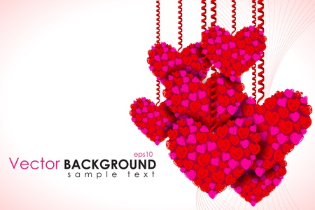 illustration of heart hanging on love background Stock Illustration - 17376422